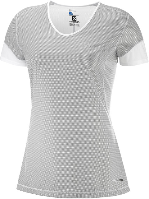 Salomon Trail Runner SS Tee Women white/charcoal